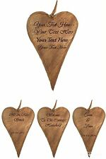 PERSONALISED Engraved Wooden Heart Shaped Plaque Personalized Wood Wedding Gift