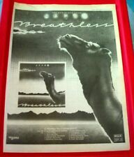 Camel Breathless Vintage ORIGINAL 1978 Press/Magazine ADVERT Poster-Size