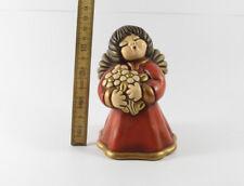 Thun === figürliche Keramik === Engel Engelchen mit Blumen rotes Kleid