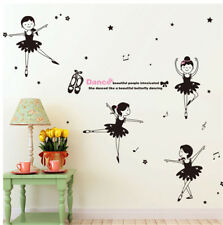 Dance Girl Music Room Home Decor Removable Wall Sticker Decal Decoration