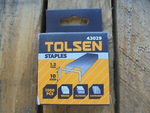 5000 x TOLSEN Staples 10mm x 1.2mm 5 x 1000 Packs