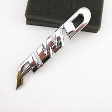Tailgate AWD 3D Chrome Metal Emblem Sticker Badge 4 Wheel Drive SUV Offroad 4X4