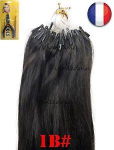 50-200 Haarverlängerungen Anbringung Kalt Einfach Schleife Natürlich 53CM Brown