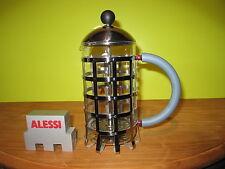 ALESSI *NEW* Cafetière presse-filtre inox poignée bleu clair H.24cm D.10cm 72cl