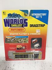 New Worlds Smallest Matchbox Introductory Playset #3 Dragstrip Micro