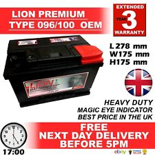 Type 096 Car Battery 640CCA Lion Batteries 12V 70Ah Sealed 3 Years Warranty