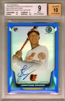 "2014 Bowman Chrome RC Auto Blue Ref..""Jonathan Schoop"" .RC @LOOK@ BGS 9/10 Auto"