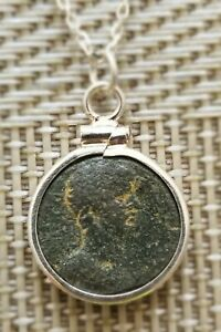 Roman Emperor Hadrian Authentic Ancient Coin Sterling Silver Pendant Necklace