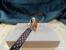 SILPADA R3483 ~ Warm Hues Ring ~ Sterling Silver Brass Goldstone ~ Size 7