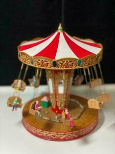 NEW RARE Mr Christmas World's Fair Style Double Swinging Chairs Music Box