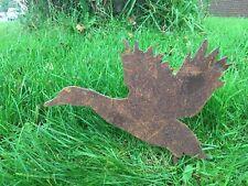 More details for rusty duck silhouette metal bird garden art
