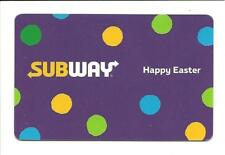 Subway Happy Easter Gift Card No $ Value Collectible