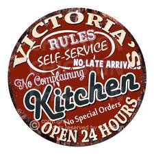 CPCH-0116 VICTORIA/'S COFFEE HOUSE Chic Tin Sign Decor Gift Ideas