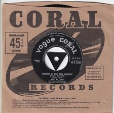 """""""RARE""""BILLY WILLIAMS..I`M GONNA SIT RIGHT DOWN AND WRITE MYSELF A LETTER..POP 7"""""""