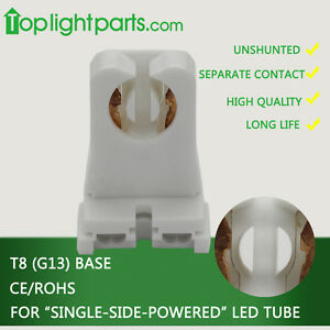 (20pcs)x High Quality T8 G13 Tombstone Non-Shunted Lampholder Lamp Socket Holder