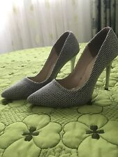 Sparkly Pointed Heels Silver Party Elegant