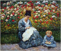 Madame Monet and Child - Hand Painted Claude Monet Oil Painting On Canvas