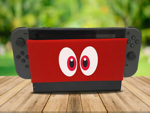 Cartoon Eyes - Nintendo Switch Dock Sock Cover Geeky Gaming Screen Handmade