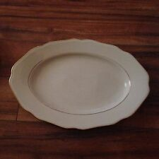 "ESCHENBACH BAVARIA 15"" PLATTER CREAM CHINA GOLD SCALLOPED EDGES"