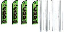 Cbd Öl Windless Flagge Mit Komplett Hybrid Stange Satz 4 Packung