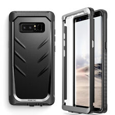 For Samsung Galaxy Note 8 Case [360° Protective] Premium Shockproof Cover Black