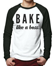Bake like a boss - Baker Cupcake Gift Men Baseball Top