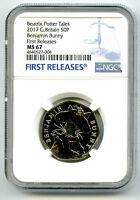 2017 GREAT BRITAIN 50P NGC MS67 BENJAMIN BUNNY FIRST RELEASES BEATRIX POTTER Box