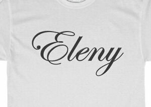 Custom Iron on Sticker Heat Transfer Decal Name Slogan DIY Shirt Wedding Favour
