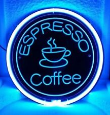 "Coffee Espresso Cafe Coffee 3D Neon Sign Beer Bar Gift 14""x10"" Light Lamp"