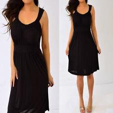 CALVIN KLEIN Black Sleeveless Babydoll Dress S Small