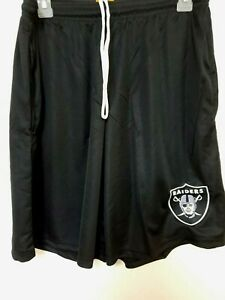 0724 Mens LAS VEGAS RAIDERS Polyester Jersey SHORTS Embroidered Black W/Pockets