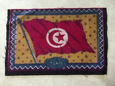 """Tunis"" Felt 1910 Era Felt Flag (inside box of cigars) (5.5"" X 8.5"")"