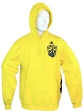 Columbus Crew SC Adidas Yellow Fleece Hoodie Sweatshirt MLS Adult Large NEW!!