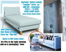 "IKEA Karlstad Chaise Lounge Cover Add-On Sivik Light Blue(MatesAvail)NEW""Longue"""