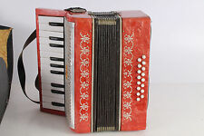 Vintage Old Original Soviet Russian Made Children Maliysh Piano Accordion 16bass