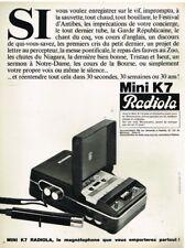 R- Publicité Advertising 1968 Le Magnetophone Mini K7 Radiola