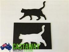 Large Walking Cat Stencil and Silhouette Set - Strong & Reusable