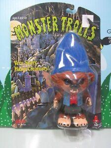 "JACOB? WOLFMAN/WEREWOLF  - 4"" 1993 Galoob/Ace Troll Doll - RARE - NEW ON CARD"