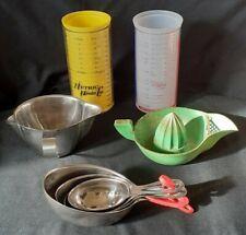 More details for joblot of vintage kitchen ware measuring cups/spoons citrus press gravy boat