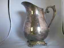 Vintage WM Rogers & Son Victorian Rose Water Pitcher - 1917 Silverplate