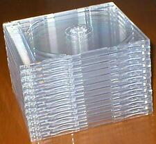 Lot of 12 Slimline, Hard-Plastic, Clean, Empty, Clear CD/DVD Jewel Cases