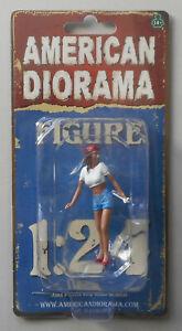 "LADY MECHANIC KATIE AMERICAN DIORAMA 1:24 Scale FEMALE GIRL Figurine 3"" Figure"