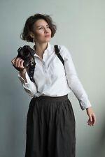 Single Camera Leather Harness Shoulder Strap Handmade
