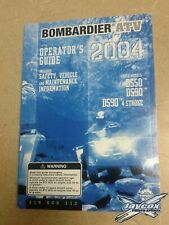 2004 Bombardier Atv Operator's Guide Youth Ds50 Ds90 Ds90 4 Stroke 219000312