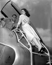 "Pinup Girl Model U.S.Air Force Pilot Fighter Jet 8""x 10"" Korean War Era Photo 33"