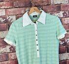 Womens Green D&G Dolce & Gabanna Polo Shirt Size Large UK 10 PS66