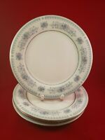 "SEA GULL FINE CHINA JIAN SHIANG WITH SILVER TRIM 4 DINNER PLATE 10 1/2"" DIAMETER"