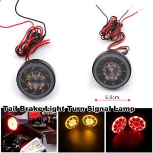 Motorcycle Bikes Round LED Brake Stop Light Waterproof Tail Light Turn Signal