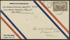1928 AAMC #2855a Sioux Lookout to Red Lake Ont, Western Canada Air Datestamp