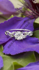 solitaire 14k white gold finish engagement ring vintage 1carat round cut diamond